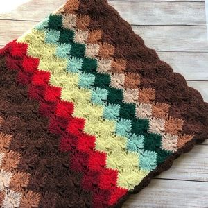 Granny Knit Vintage Throw Blanket 3.5 x 5 ft